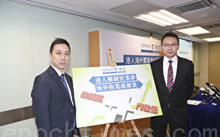 左起:康宏國際地產行政總裁張永達、康宏理財服務聯席董事胡彥希。(余鋼/大紀元)