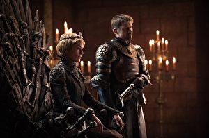 莲娜‧海蒂与尼可拉‧科斯特—瓦尔道(Nikolaj Coster Waldau)都是《冰与火之歌:权力游戏》(陆译:权力的游戏)身价最高的要角。(HBO提供)