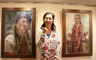 黄莉莉的针情针意 葫芦墩纱网绘绣展
