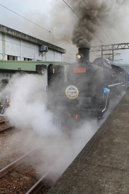 蒸汽火車啟航。(郭千華/大紀元)