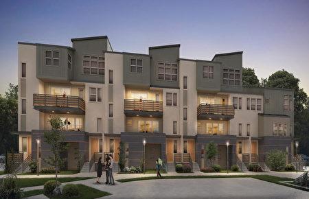 矽谷新房開發商Pulte 開發的Onyx小區。(矽谷房地產經紀Li Jin提供)