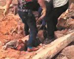 4月13日,福建晉江市永和鎮英墩村一拆遷廢墟發現一具老人屍體,知情村民透露為村委會僱人偷偷強拆壓死人。(受訪者提供)