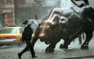 今日上午8點至明天下午2點,將有豪雨襲向紐約。 (Doug Kanter/AFP/Getty Images)