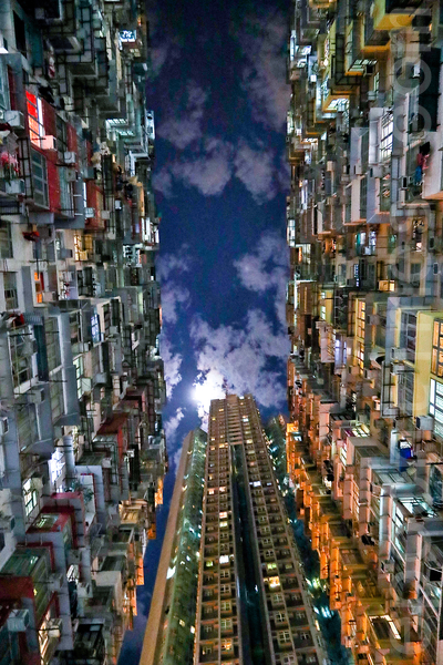 位於香港鰂魚涌的「怪獸大廈」,曾被《變形金剛》和《攻殼機動隊》等好萊塢影片取景拍攝。(余鋼/大紀元)