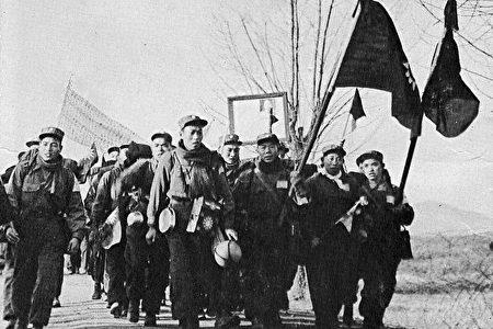 反共志愿军战俘们走出中立区(穆正新提供)