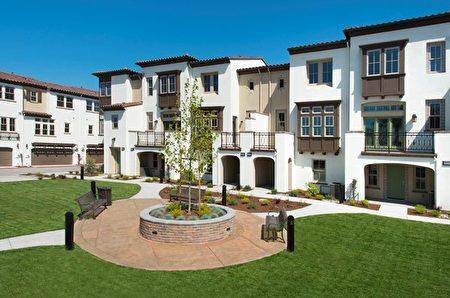 山景城新房,Dividend Homes開發的View Point小區。(矽谷房地產經紀Li Jin提供)