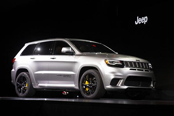 纽约国际车展新车发表,JEEP Grand Cherokee Trackhawk 。(戴兵/大纪元)