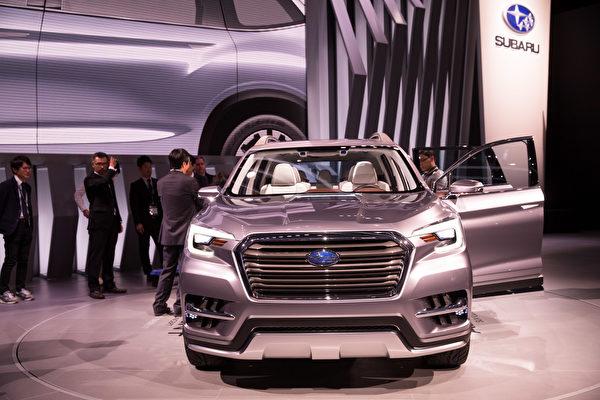 纽约国际车展新车发表,SUBARU Ascent SUV 。(戴兵/大纪元)