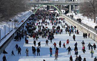渥太华丽都运河滑冰道(任侨生/大纪元)