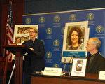 美國國際宗教自由委員會(USCRIF)在美國國會山舉行新聞發佈會。(李辰/大紀元)