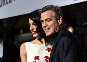 George Clooney和Amal Clooney夫妇。(Valerie Macon/Getty Images)