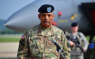 如果東北亞真的發生戰事,駐韓美軍將在最前線,領導他們的是身經百戰的陸軍四星上將文森特•布魯克斯。(JUNG YEON-JE/AFP/Getty Images)