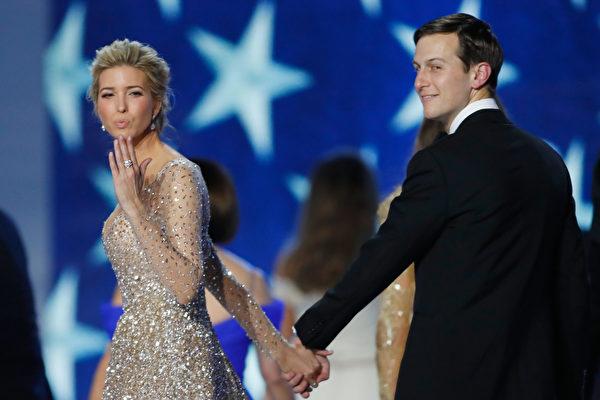 川普女婿库什纳和女儿伊万卡都入选《时代》百大有影响力人物。 ( Aaron P. ernstein/Getty Images)