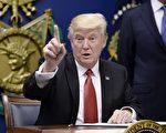 川普(特朗普)總統4月11日(週二)告訴福克斯,在進行稅改之前,他仍然專注於解決健保問題。(Olivier Douliery-Pool/Getty Images)