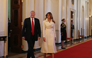 第一夫人梅拉尼婭還與川普總統。 (Photo by Mark Wilson/Getty Images)