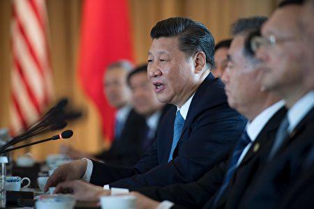 习近平4月7日在川习会上发言。(JIM WATSON/AFP/Getty Images)