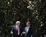 美國總統川普和中國國家主席習近平在他們的首次會晤當中決定,他們需要迅速舉行貿易談判,並在一百天內產生結果。  ( JIM WATSON/AFP/Getty Images)