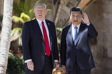 川普(特朗普)自今年1月上任美國總統後,中美關係走向一直是外界關注焦點。 (JIM WATSON/AFP/Getty Images)