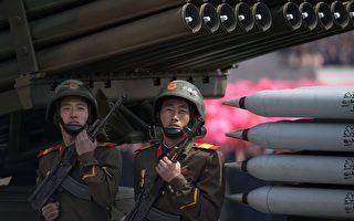 在美國展示了在朝鮮半島的軍事威脅以及中國增強了針對朝鮮的經濟限制之後,朝鮮星期六進行大閱兵,但並沒有進行核試驗。(Photo credit should read ED JONES/AFP/Getty Images)
