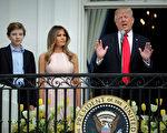 根據優化平台SocialFlow截至4月28日的分析,川普的小兒子巴倫(如圖左),在父親執政百日內,悄悄地抓住網友的心,走紅程度不亞於川普。(Chip Somodevilla/Getty Images)