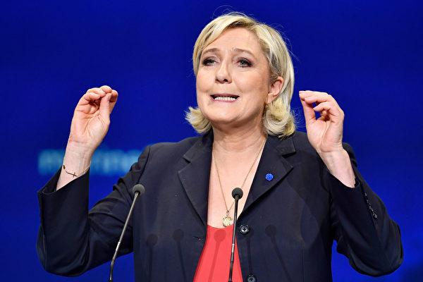 法国巴黎20日晚再次发生恐袭案,造成一名警员遇难。法国大选极右翼民粹主义女候选人勒庞(图)随后表示,法国必须重建边境检查与安全措施,收紧移民政策。(Jeff J Mitchell/Getty Images)