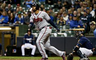 MLB勇士坎普首度單場3響 生涯250轟差4支