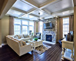 雅德利花园小区获奖楼房设计Primrose模型客厅一览。(DeLuca Homes提供)