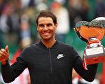 红土之王纳达尔第十次在ATP蒙特卡洛大师赛比赛中夺冠。(Clive Brunskill/Getty Images)