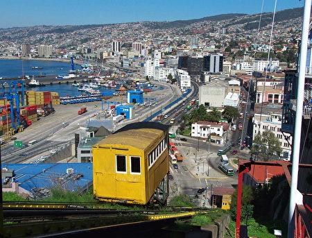 瓦尔帕莱索随处可看到登山缆车。(Javier Rubilar/CC/Pixabay)