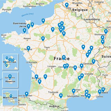 法國各地練功點。(大紀元)