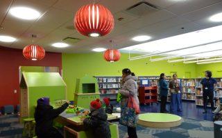 法拉盛公圖兒童閱覽室裝修一新,4月4日重新開放,並將於4月6日舉行剪彩儀式。 (林丹/大紀元)