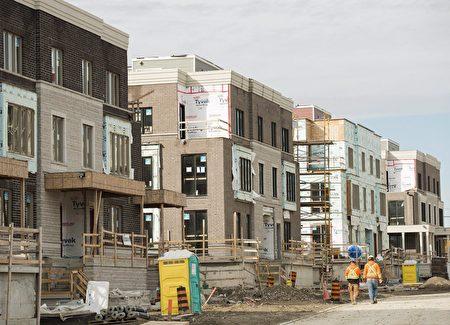 3月份,大多倫多地區新建獨立屋的房價同比漲了67%。(加通社)
