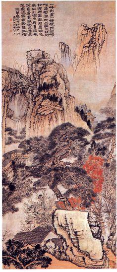 清 石濤 《游華陽山圖》。(公有領域)