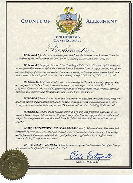 proclamation from Allegheny county Executive (1)