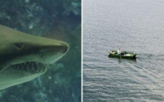 鲨鱼咬断独木舟 澳男苦撑40分钟逃死劫