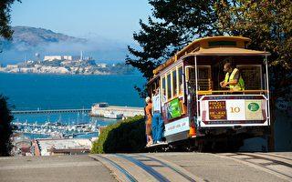 舊金山的噹噹車(Cable Car),因其復古外型,成為舊金山的地標之一,外來遊客乘者眾多。(shutterstock)