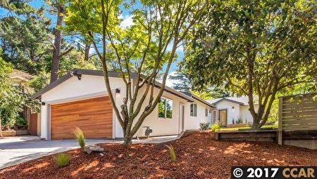 全新裝修上市,採用現代化設計,4房3浴,2 Monroe Ct, Orinda,開價$1,595,000。(灣區地產經紀Mary Mok提供)