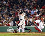 巴尔的摩金莺队球员Adam Jones于5月1日在波士顿红袜队芬威球场比赛时,遭球迷辱骂种族歧视的字眼,及向他扔花生,造成舆论一片挞伐,该球迷已被终身禁入芬威球场。(Tim Bradbury/Getty Images)