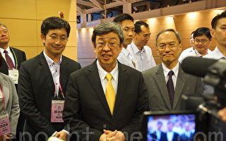 陈建仁17日针对斐济撤馆表示,会持续踏实外交工作,台湾驻馆还在当地,会持续沟通。(李怡欣/大纪元)