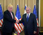 川普是第一位任期初期就出訪以色列的美國總統,並且展示出四招「好平衡」外交功夫。圖為川普與以色列總理内塔尼亚胡(Benjamin Netanyahu)會面。 (Amos Ben Gershom/GPO via Getty Images)