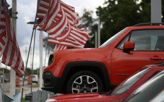 黄女士看上的是一款克莱斯勒的吉普车。 (Joe Raedle/Getty Images)