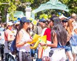 2016年4月16日,加州大学伯克利分校校园开放日Cal Day。(李文净/大纪元)