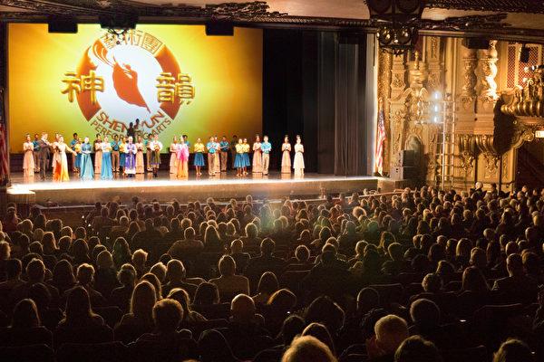 5月6日下午,美国神韵北美艺术团在美国俄亥俄州哥伦布市俄亥俄剧院的第二场演出给当地的观众带来一场视觉的飨宴。图为演出所在的俄亥俄剧院。(陈雷/大纪元)