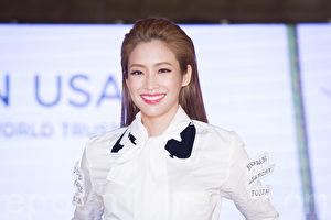 艺人袁咏琳(Cindy)5月12日在台北出席代言活动走秀。(陈柏州/大纪元)