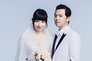 黄鸿升(右)与李千娜(左)搭档拍摄爱情喜剧《逃婚一百次》,上演奇幻爱情。(纬来电视提供)