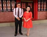 艺人白冰冰(右)刚接下新综艺节目《冰冰SHOW》,她于5月22日上节目宣传并接受主持人戴立纲专访。(中视提供)