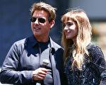 汤姆‧克鲁斯(左)与 索菲亚‧宝特拉宣传新片《新木乃伊》(台译:神鬼传奇)资料照。 (Rich Fury/Getty Images)