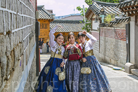 韩国首尔北村韩屋村风景。(全景林/大纪元)
