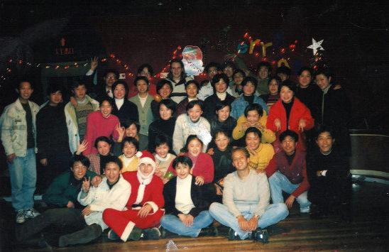 Albert Roman在中国过圣诞节。(Albert Roman提供)