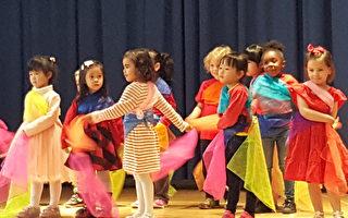 學生學跳世界各國舞蹈。(華德小學提供)